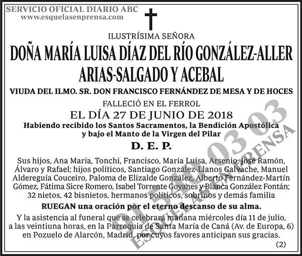 María Luisa Díaz del Río González-Aller Arias-Salgado y Acebal